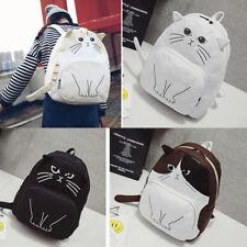 Women Handbag Bag Cat Backpack Student Rucksack Book School Travel Hiking Girl
