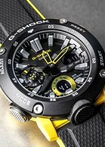 Casio G-Shock * GA2000-1A9 Carbon Core Guard Black and Yellow Watch for Men