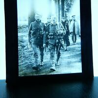 Wounded Soldier WW1 returning to rear after first aid Magic Lantern glass slide
