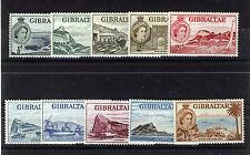 GIBRALTAR 1953 DEFINITIVES SG145/154 BLOCKS OF 4 MNH