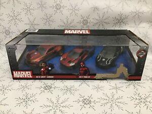Marvel Avengers Avengers Assemble 1:32 spiderman iron man 3 Die Cast Car Set new