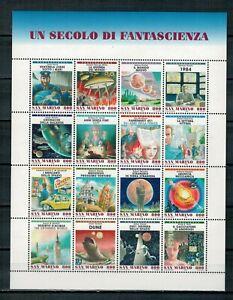SAN MARINO - AL FACCIALE - 1998 UN SECOLO DI FANTASCIENZA FOGLIETTO ** MNH