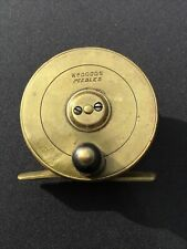 A VINTAGE BRASS TROUT FLY FISHING REEL, WILLIAM DODDS.