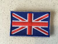 British Flag Embroidery Iron Sewn On Patch 8x5cm Hook &Loop