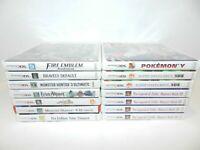 Nintendo 3DS Game Case & Manual Booklet Fun You Pick & Choose OEM Pokemon Zelda