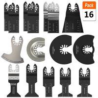 Oscillante Outil 16x lames de scie multi cutter pour DEWALT Makita Bosch