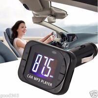 MP3 Player Wireless FM Transmitter Modulator Car Kit USB SD MMC LCD Remote MP3