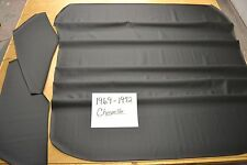 1969 69 1970 70 1971 71 1972 72 CHEVELLE NON PERFORATED BLACK HEADLINER USA MADE