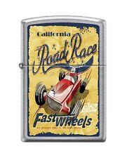 Zippo 207 CALIFORNIA ROAD RACE open wheel vintage poster RARE Lighter