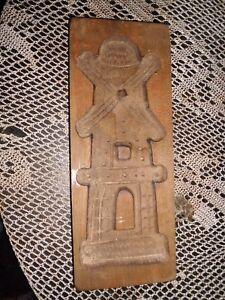 altes Holzmodel Holzform geschnitzt Mühle 30x12x 2cm