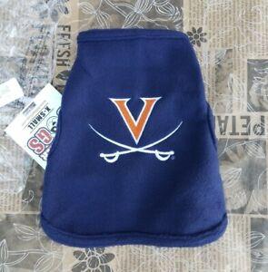 All Star Dogs NCAA Virginia Cavaliers Polar Fleece Sweatshirt XS 8 - 14 Pounds