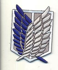 """ATTACK ON TITAN iron on embroidered patches patch Shingeki no Kyoj cosplay 3"""" ."""