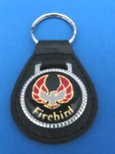 FIREBIRD AUTO LEATHER KEYCHAIN KEY CHAIN RING FOB #030 BLACK