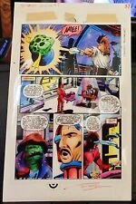 HAMMER OF GOD #1 PAGE #37 1990 BLUELINE ORIGINAL PAINTED COMIC ART BY TOM SMITH