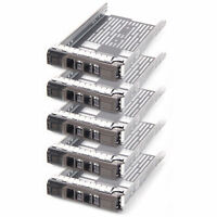 "Lot of 5x New 3.5"" Sas Tray Caddy For Dell Sled F238F G302D T710 R710 T610"