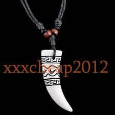 cool Tibet Style Tooth Pendant Necklace RH029