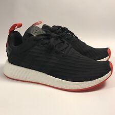 Adidas NMD R2 PK Primeknit Core Black Red White Boost BA7252 Men s Size 4  NEW 7c74a16cb016