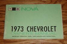 Original 1973 Chevrolet Nova Owners Operators Manual 73 Chevy