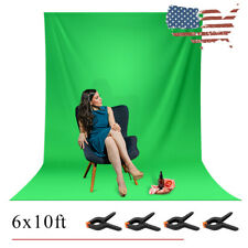 6 x 10 ft Green Screen Photography Backdrop Kit Photo Video Studio Background US