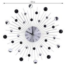Wanduhr Funkuhr Quarz Funkwanduhr Analog Uhr 50cm Zeitumstellung Automatisch ME#