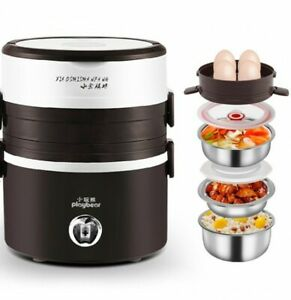 Playbear Mini Electric Portable Steamer Rice Cooker Heater Lunch Box