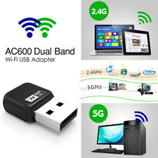 Wavlink Wifi USB Adapter Dongle AC600 Dual Band 802.11ac USB WiFi Adapter Dongle