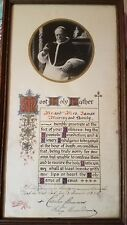 POPE Pius XI Apostolic Blessing Plenary Gelatin Photo Papal Seal Sign 1930 Irish