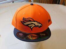 New Era NFL Mens Onfield 5950 Denver Broncos Orange Game Cap 7 3/4 Fitted Hat
