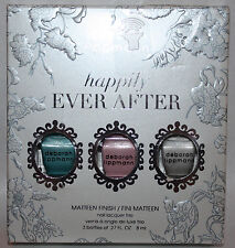 deborah lippmann HAPPILY EVER AFTER Matteen Finish Mini Nail Lacquer Trio **