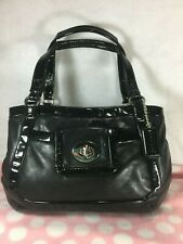 COACH CRICKET  13601 Carry bag Purse handbag Shoulder bag Black Leather