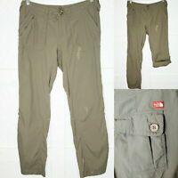 The North Face Convertible Brown Hiking Nylon Pants Capri Large 12 - Read