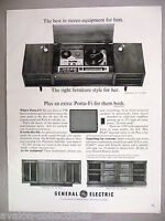 General Electric Porta-Fi Stereo Phonograph PRINT AD - 1965