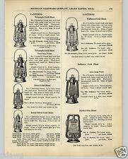 1936 PAPER AD Triumph Jewel Small Rival Defiance Hot Cold Blast Lantern Perfect