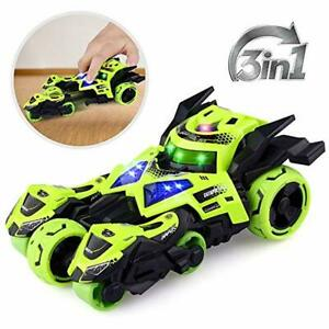Growsland Pull Back Cars Toy, Kids Toy Large Pull Back Vehicle with 2 Motorcycle