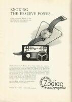 vintage 1953 print ad ZODIAC AUTOGRAPHIC Swiss watchmaking MID CENTURY ART
