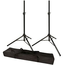 120lb Load Pair PA Speaker Monitor Stage Stands on Tripod Pro-Audio Mount DJ 2