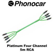 Phonocar 5 M RCA SCUDO Triplo Platino Line Alta Qualità 4 Canali Amp Cablaggio