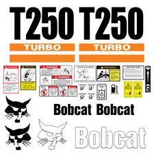 Bobcat T250 Turbo Skid Steer Set Vinyl Decal Sticker 25 Pc