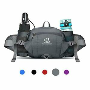 Waterfly Hiking Waist Pack Bum Bag Waist Bag with Bottle Holder Running Bag