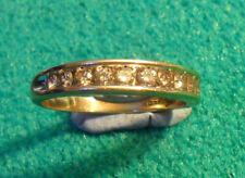 9ct Gold 0.75ct Champagne Diamond Half Eternity Ring ~ UK Q1/2 US 8 1/4 ~ R0026