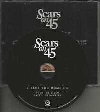 SCARS ON 45 take you home 2015 TST PRESS PROMO Radio DJ CD single MINT USA