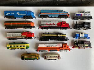 Vintage Lot Of Ho Scale Diesel Locomotive Engines Tyco AHM Bachmann