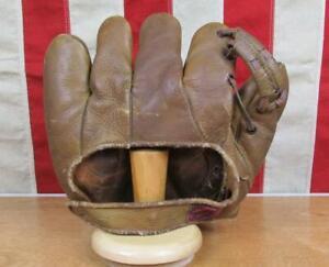 Vintage 1930s Rawlings Leather Split Finger Baseball Glove Mitt H2 Professional