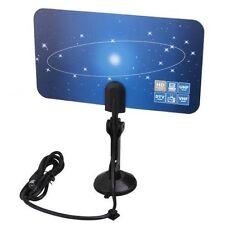 Digital Indoor VHF UHF Ultra Thin Flat TV Antenna for HDTV 1080p DTV HD Ready E1