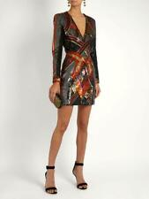b2981dabb3 NWOT Balmain Multicolor Sequin V-Neck Long Sleeve Mini Dress Size 38
