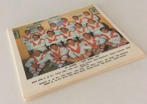 10 x DAILY MIRROR TEAM  COLOUR RUGBY LEAGUE CARDS 1967 SCANLENS