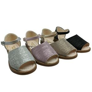 GIRLS CHILDRENS KIDS SUMMER SANDALS ANKLE STRAP FLATS OPEN SHOES SIZE