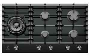 ELECTROLUX 90CM GAS ON GLASS COOKTOP - EHG955BD