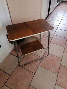 Art Deco Beistelltisch Stahlrohrgestell Tisch Schlaufenfuss Loft  Bauhaus Chrom