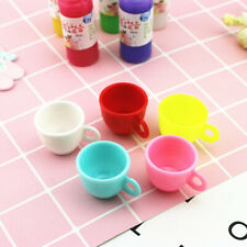 5Pcs Doll House Miniature Coffee Tea Cup Kitchen Toy Tableware Doll Accessories